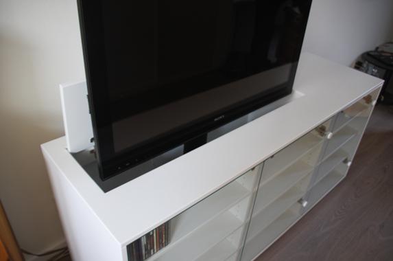 Tv Meubel Met Lift 55 Inch.Audio Tv Media Kast Op Maat
